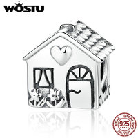 High Quality 925 Sterling Silver Sweet Home Charm Beads Fit Original Pandora Bracelet Berloques Authentic Jewelry