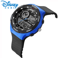 Disney Digital Children Watches for Boys 50mm Waterproof Kids Sport Wristwatches with Alarm Date Display Mickey Mouse Boy Watch