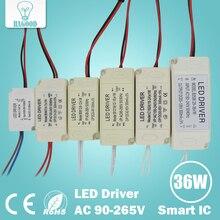 Переходник водитель трансформатор светодиодной безопасный пластиковый корпус питания led свет лампы