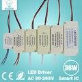 1-3 W 4-7 W 8-12 W 12-18 W 18-24 W 25-36 W Segura Reservatório De Plástico LEVOU motorista LEVOU adaptador de alimentação do transformador de luz para lâmpada led lâmpada