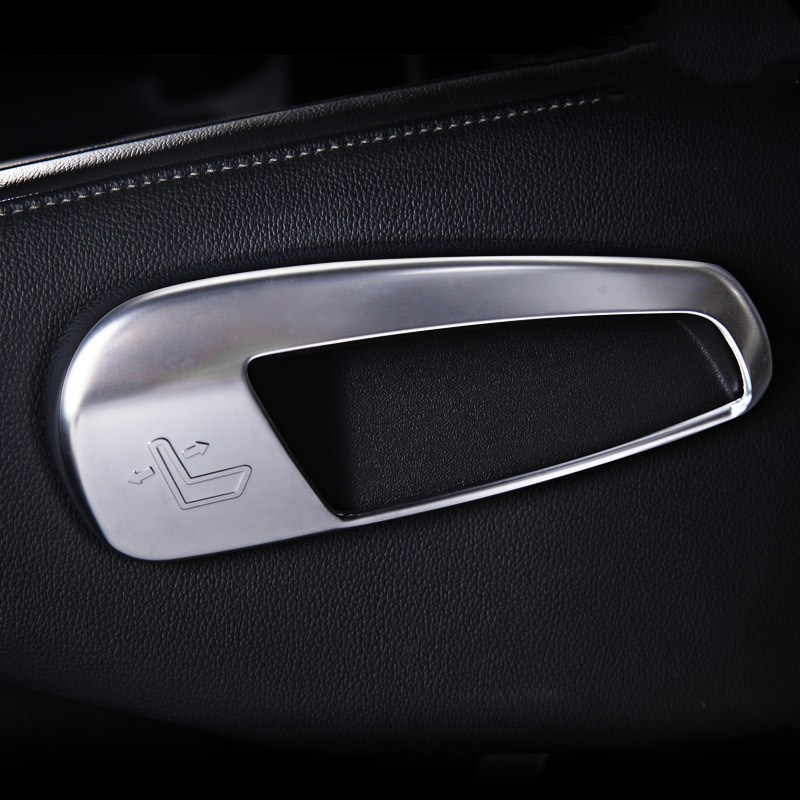 2pcs Car Seats Adjustment Control Abs  Styling Covers For Ford Edge Accessories  2015 Chrome Car Stickers