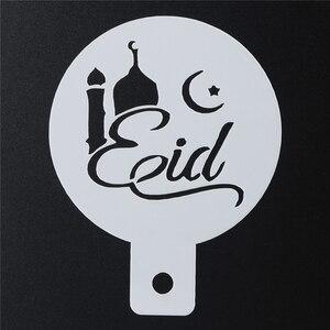 Image 2 - Aomily 6 sztuk/zestaw eid mubarak Cupcake ciasto szablony dekoracja na ramadan islamskie wakacje szablony do kawy gadżety narzędzia do pieczenia ciasta