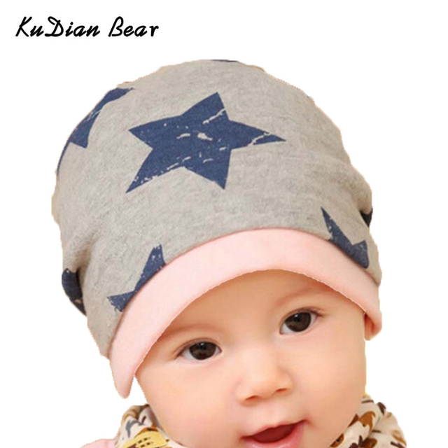 KUDIAN BEAR Spring Autumn Newborn Baby Hat Stars Baby Caps For 0 12 Months  Baby Boy Girl Hat MKE055 PT49-in Hats   Caps from Mother   Kids on ... 96023ca5aec