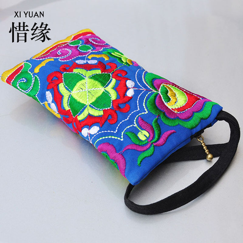XIYUAN BRAND Luxury and fashion Womens Embroidered Wallets,Yunnan national wind coin purse and Womens purse