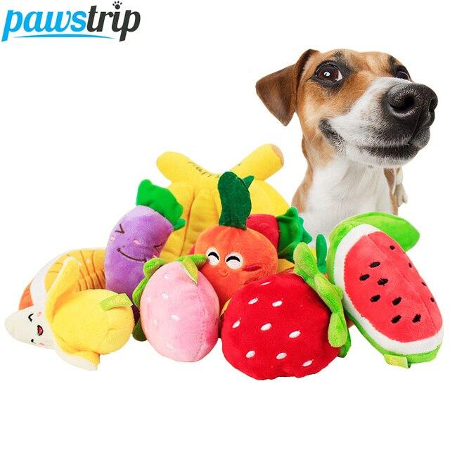1 pc Sveglio della Frutta di Disegno Pet Giocattoli Del Cane In Pile Morbido Cuc