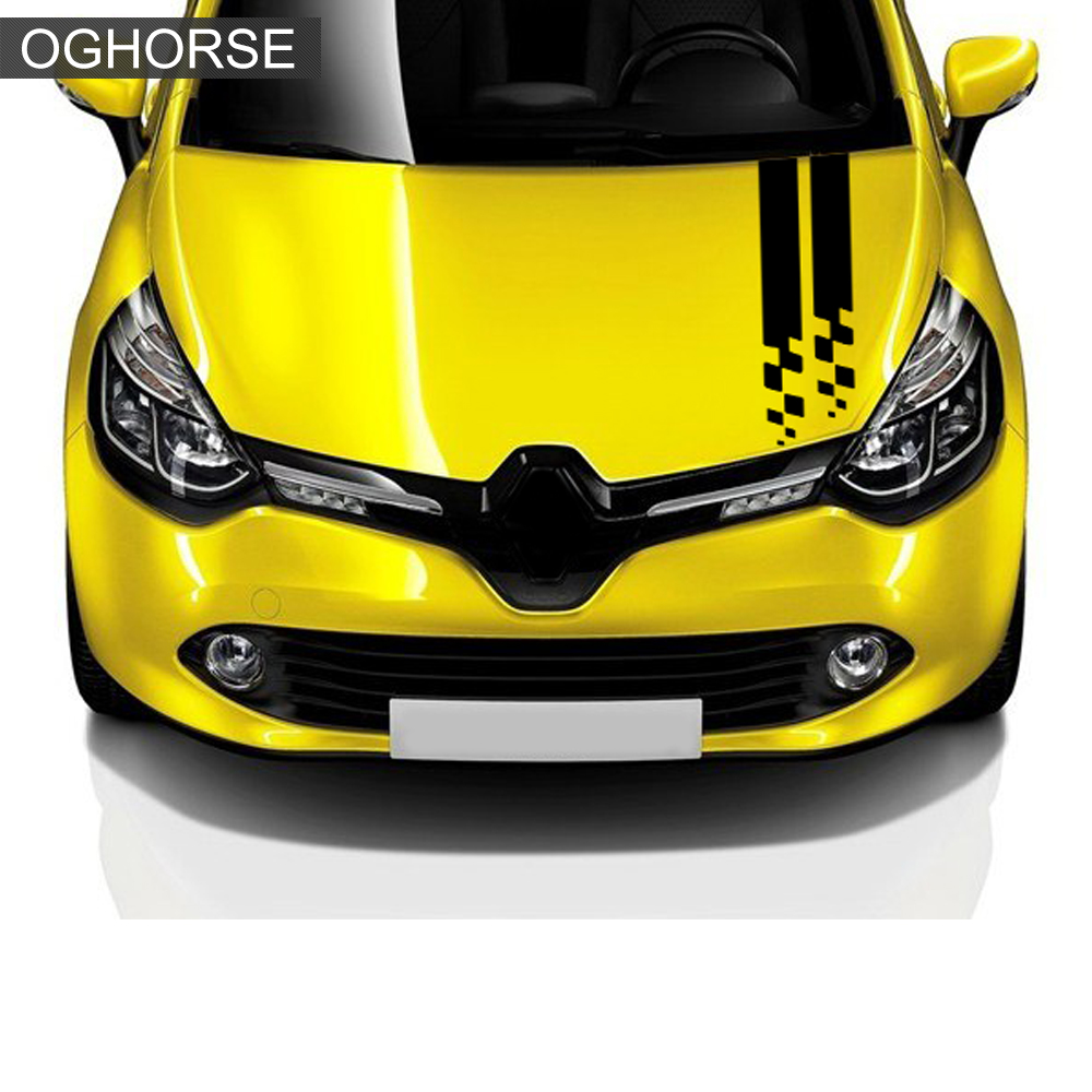 Image 3 - Racing Sport Car Hood Sticker Trunk Bonnet Vinyl Graphics Decal For Renault Clio RS Campus Megane 2 3 Twingo Sandero Accessories-in Car Stickers from Automobiles & Motorcycles