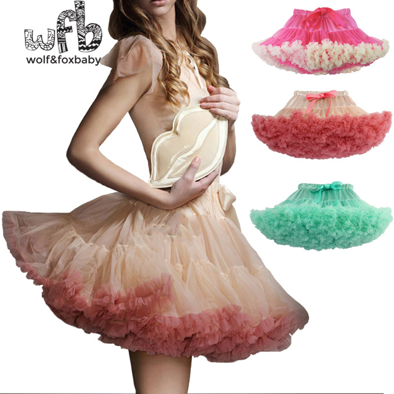 Retail Adult Net Yarn Half Skirt Pompon Skirt Cosplay Skirt Summer