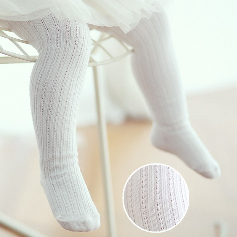2016New Baby Cotton Tights Double Needle Fishnet Tights Newborn Toddler Infant Spring Autumn Baby Non-slip Tights rib knit tights