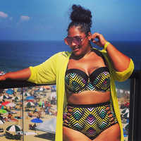 Sexy Bikinis Plus Size Retro Print Swimsuit Women Swimwear Big Breast Push Up Brazilian Bathing suit Maillot de Bain Femme 4XL