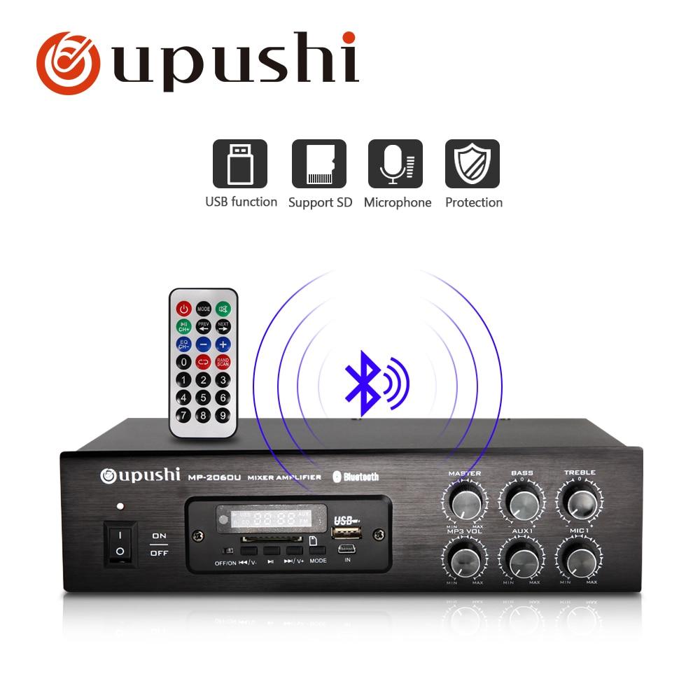 Kompetent Oupushi Bluetooth Verstärker 60 W 80 W Mini Aduio Verstärker Digital Stereo Sound Mit Usb Fernbedienung Volumen Groß Sd