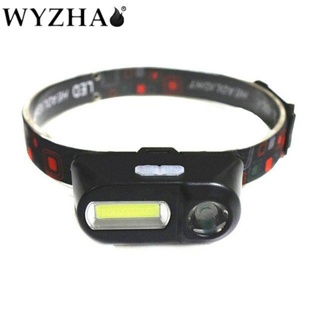 NEW COB LED Headlight Headlamp Head light Flashlight USB Rechargeable 18650 Torch Camping Hiking Night Fishing Light