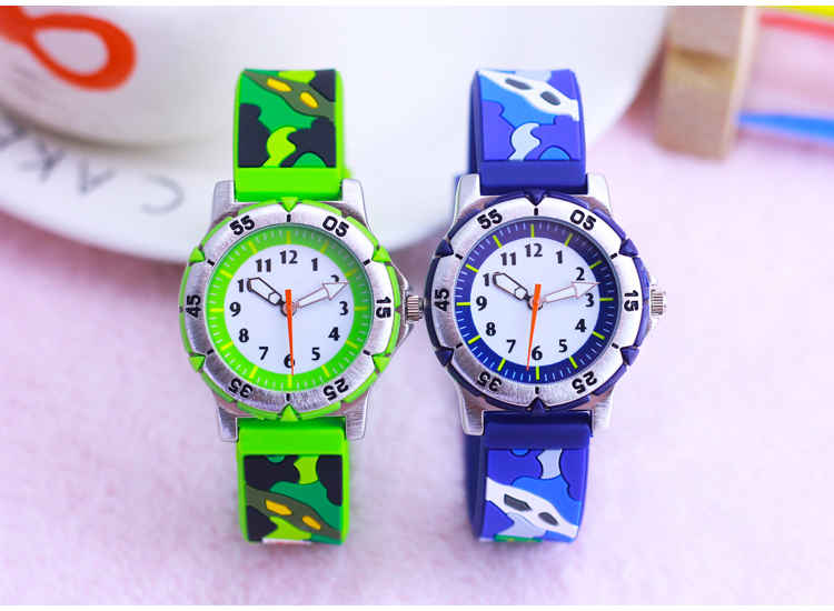 Watches Wl Children Youth Mens Cool Boy Silicone Quartz Watch 3d Student Camouflage Student Gift Watch Strengthening Sinews And Bones