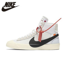 Nike Offical Original Blazer Rainbow Trailblazer Men's Skateboarding Shoes Breathable Sports Outdoor Sneakers #AA3832