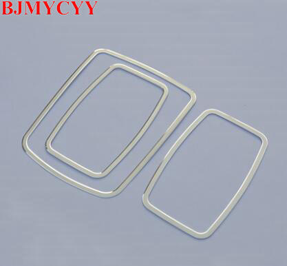 BJMYCYY For Mercedes Benz ML W166 GL X166 2012 To 2016 Car Water Cup multi-media Switch Button Frame Cover Trim Inner 3pcs car seat cover covers accessories for mercedes benz gle w167 glk x204 gls x166 ml w163 w164 w166 w221 w222