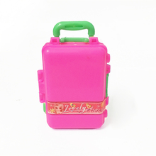 3D Kid Travel Train Suitcase Luggage Case Doll Dress Storage Case Toys For Joint 1 6