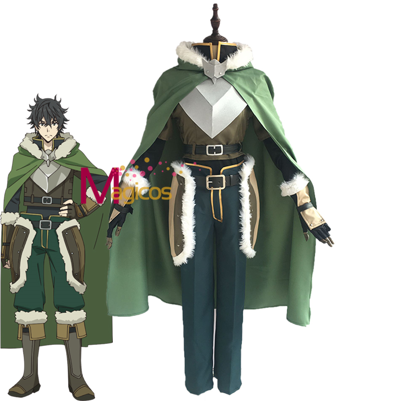The Rising Of The Shield Hero Shield Iwatani Naofumi Cosplay Costume Wig Shoes Costumes For Men Halloween Party