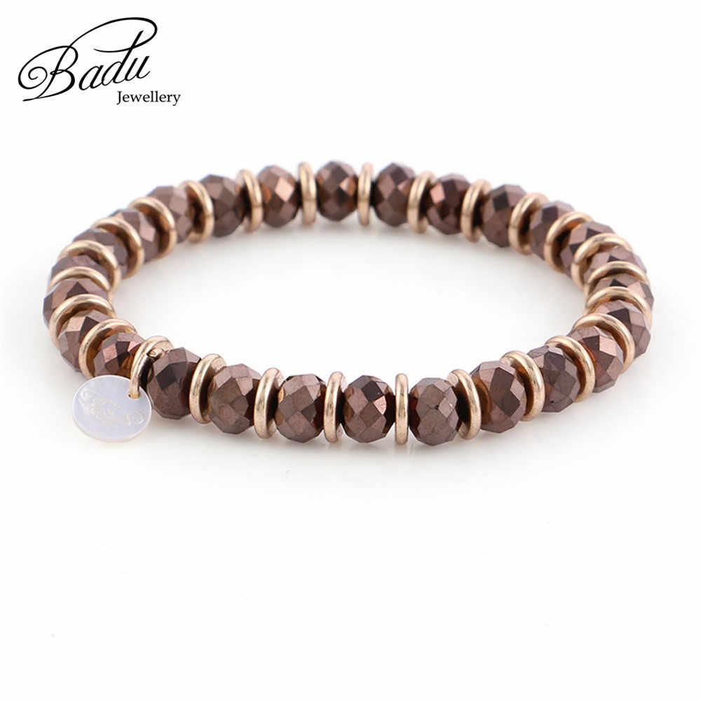 Badu осенний зимний браслет для женщин 6 мм хрустальные бусины браслеты для девочек Оптовая Продажа Модные ювелирные изделия подарки оптом