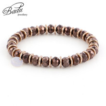 Badu Autumn Winter Bracelet for Women 6mm Crystal Beads Bracelets for Girls Wholesale Fashion Jewelry Gifts Wholesale wholesale blue natural crystal bracelets 6mm beads with pink magnolia flower pendant crystal bracelet for women fresh jewelry
