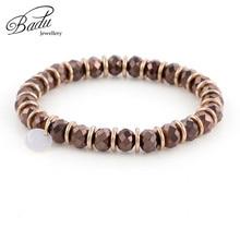 Badu Autumn Winter Bracelet for Women 6mm Crystal Beads Bracelets Girls Wholesale Fashion Jewelry Gifts