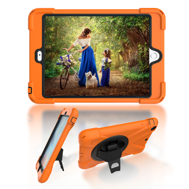 For Apple iPad Mini1 Mini2 Mini3 EVA Heavy Duty Shock Resistant Silicone Hard Case Cover with Wristband and Stand+Stylus Pen