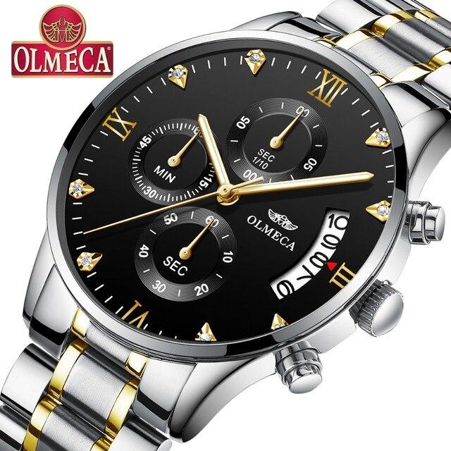 a42530c78f7e OLMECA superior de la marca de lujo de los hombres relojes deporte  analógico de cuarzo hombre
