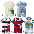 Summer Baby Romper Baby Boy Clothes Cotton Newborn Girls Clothing Sets Animal Polo Romper Roupa Infantil Bebes Kid Jumpsuit