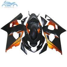 ABS motorrad Verkleidung kits für SUZUKI 2004 2005 GSXR600 R750 sport verkleidungen kit 04 05 GSXR750 GSXR 600 K4 K5 orange schwarz