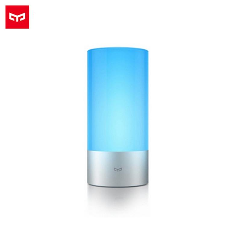 Original Xiaomi Mijia Smart Lights Indoor Bed Bedside Lamp 16 Million RGB Light WiFI and Bluetooth Control For Mi home APP xiaomi mijia yeelight ceiling light led bluetooth wifi remote control fast installation for xiaom mi home app smart home kit