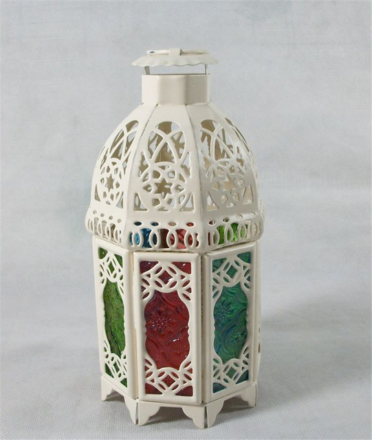 White colorful glass