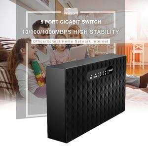 Image 2 - 5 Port Desktop Gigabit Switch RJ45 Network Switch 1000Mbps LAN HUB Ethernet Switch Full Half duplex Drop Shipping