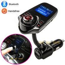 2016 Super Bluetooth Car Kit manos libres Set FM transmisor MP3 reproductor de música 5 V 2.1A USB cargador de coche, tarjeta Micro SD 1 G – 32 G