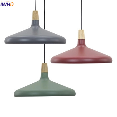 IWHD Modern Pendant Lights Led Lighing Fixtures Fashion color Iron Hanging Lamp Creative Kitchen Dining Wood Lampara Luminaire iwhd glass lampara led hanging lights modern creative restaurant pendant light fixtures dining room suspension luminaire lights
