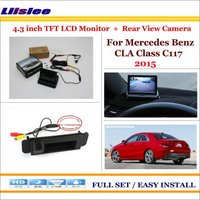 Liislee For Mercedes Benz CLA Class C117 2015 Car Rearview Camera + 4.3 LCD Screen Monitor = 2 in 1 Parking Assistance System