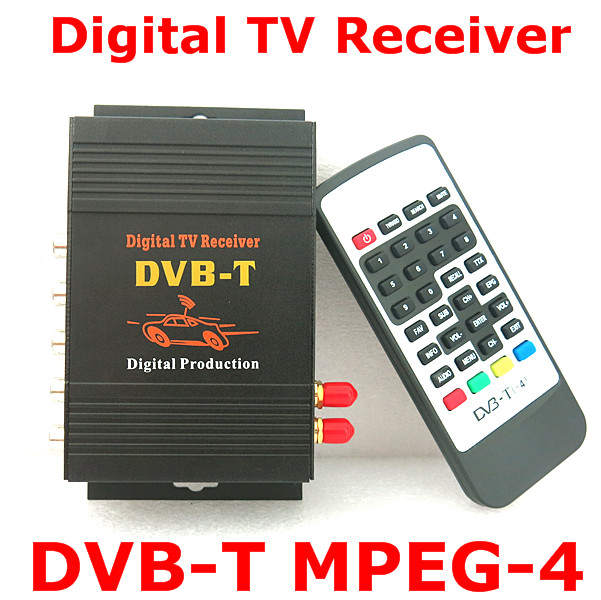 Support 140 190KM H DVB T MPEG2 and MPEG4 Dual Tuner Digital TV Receiver Compatible with