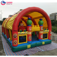 Children floating inflatable bouncy castle for outdoor jumping castle with sunshade tent PVC tarpaulin bouncy castle inflatable tarpaulin inflatable bouncy castle bouncer for children party indoor