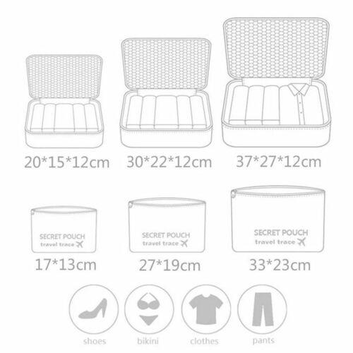 Купить 6 шт водонепроницаемые дорожные сумки для хранения одежды
