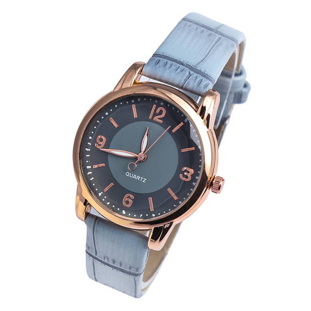 Women watches luxury Fashion Ladies Watch Casual Female Clock Leather Strap Anal
