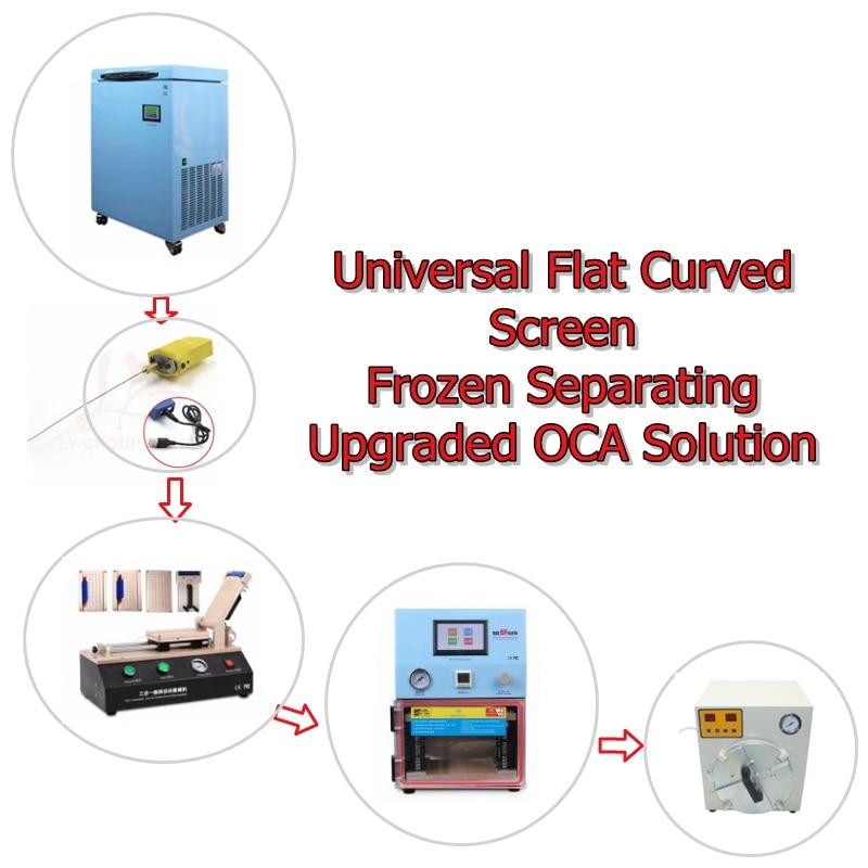 Universale piatto curvo schermo congelato soluzione soluzione aggiornata OCA OCA include OCA Laminatore Macchina di separazione