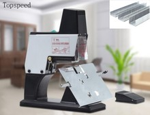 2019 New Electric Saddle Stapler Flat Stapler Double Functions 40sheets Heavy Duty + 3 Box Staples deli 1pcs thickened stapler can be ordered 50 page heavy duty stapler for 24 6 or 24 8 staples office efficient useful stapler