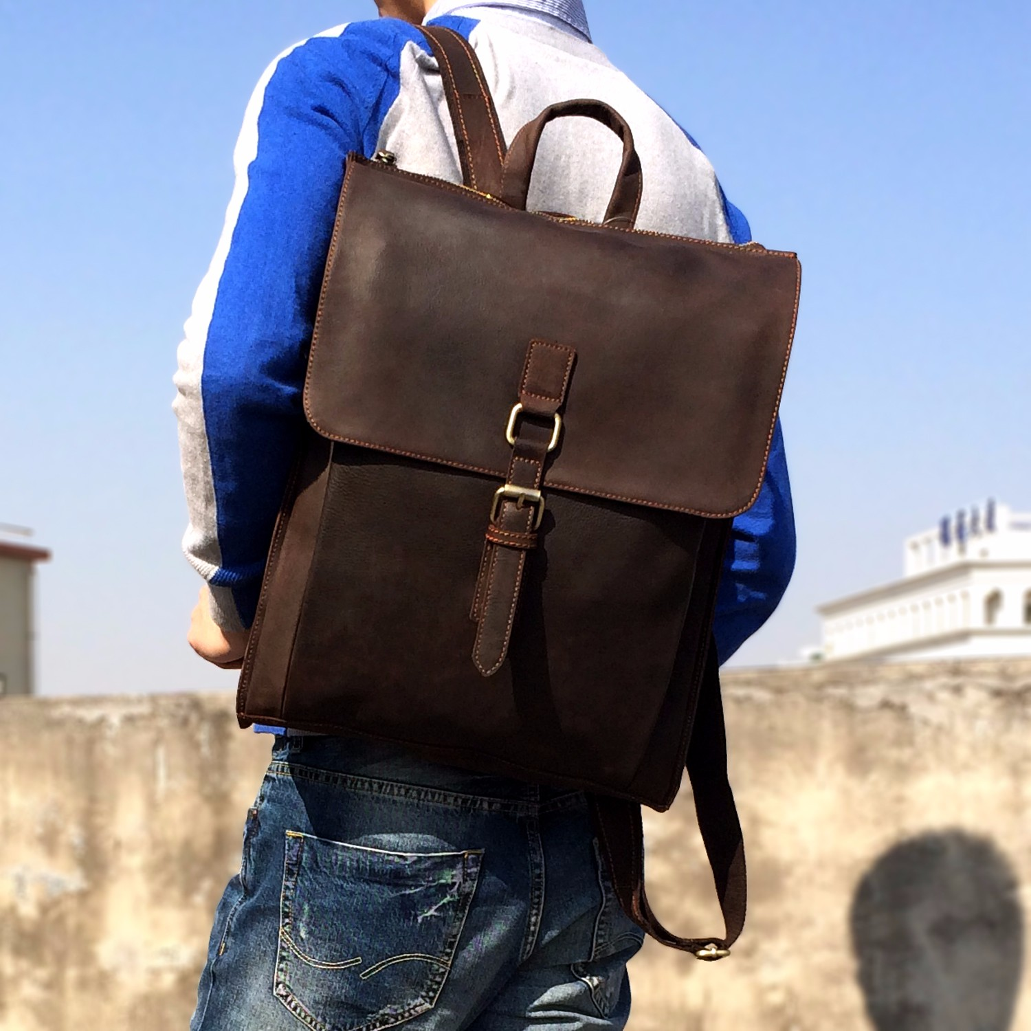 Men Backpack Simple High Quality Leather Backpack Male Leather Fashion Trend Youth Leisure Travel Computer Bag mochila mujer5HMen Backpack Simple High Quality Leather Backpack Male Leather Fashion Trend Youth Leisure Travel Computer Bag mochila mujer5H