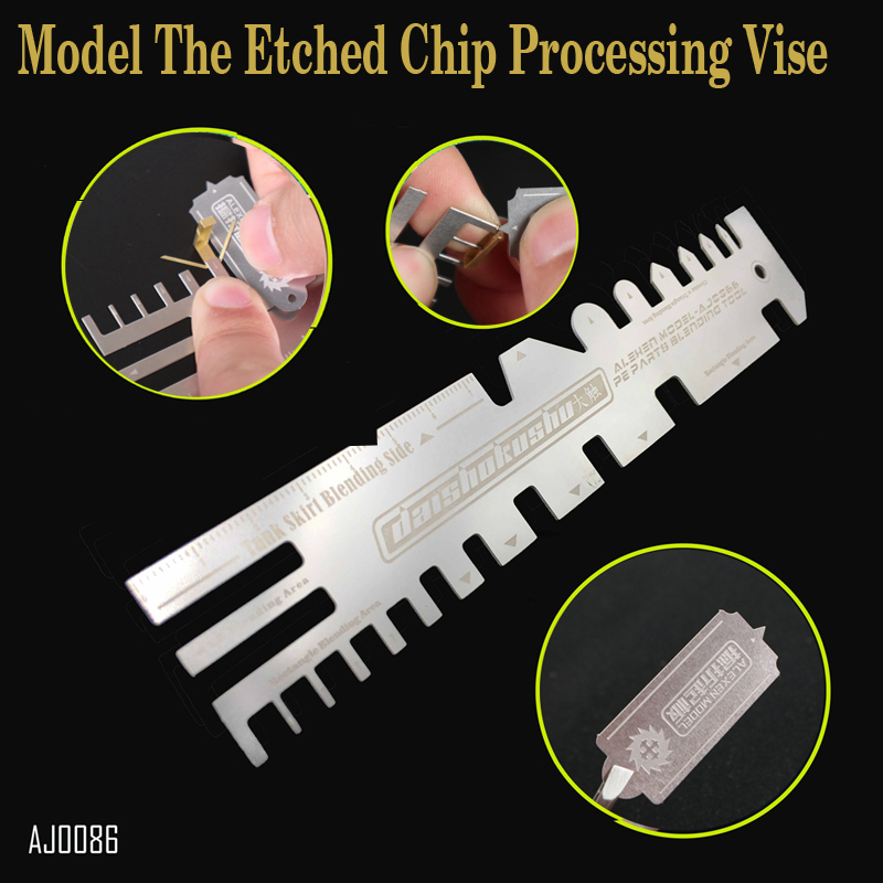 цена Hobby Tanks Ships Photo-etching Parts Folding Tool Hand Pressure Type Auxiliary Ruler Model The Etched Chip Processing Vise