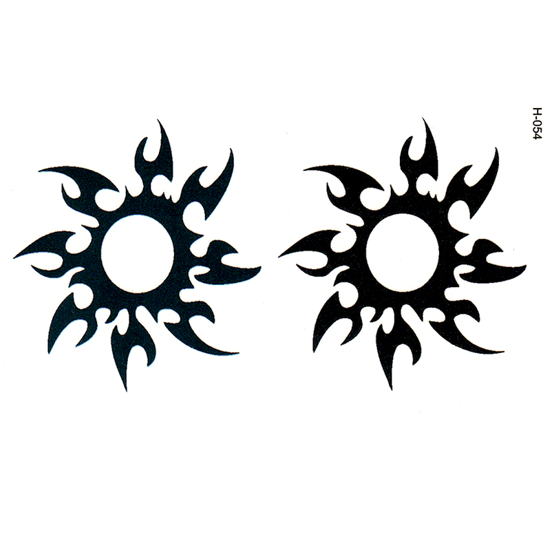 Amichevole Simulazione Sun Totem Uomini E Donne Impermeabile Tatuaggio Adesivi Moda Tatuaggi Cicatrici Copertura Modello Verniciato All'ingrosso Usa E Getta