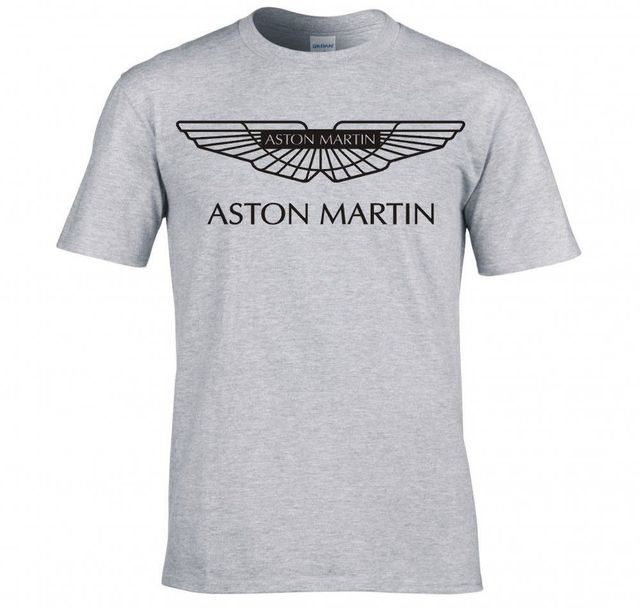 new arrived men t shirt Aston Martin Vanquish logo t shirt male top tees