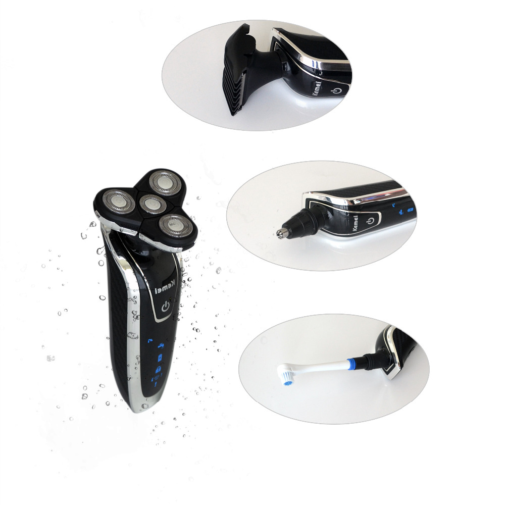 4 In 1 Multifunction Rechargeable Electric Shaver 3D Floating  Blades Washable Face Care Razor