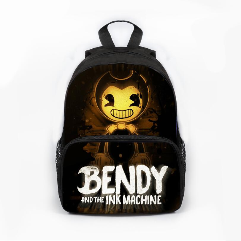 13inch Prevalent Kindergarten Cartoon Bag Kids  Bendy And The Ink Machine Backpack For Children Girls Boys Preschool Baby Bags