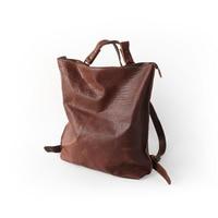 Vendange original simple retro genuine leather bag handmade cow leather backpack 2455