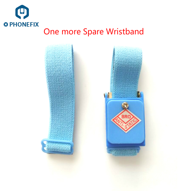 PHONEFIX Cordless Wireless Adjustable Anti Static Bracelet Electrostatic ESD Cable Wrist Strap For Mobile Phone Repair