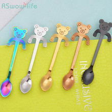 Creative Stainless Steel Cute Cartoon Spoon Cat Coffee Practical Birthday Gift Festival Party Supplies Gifts