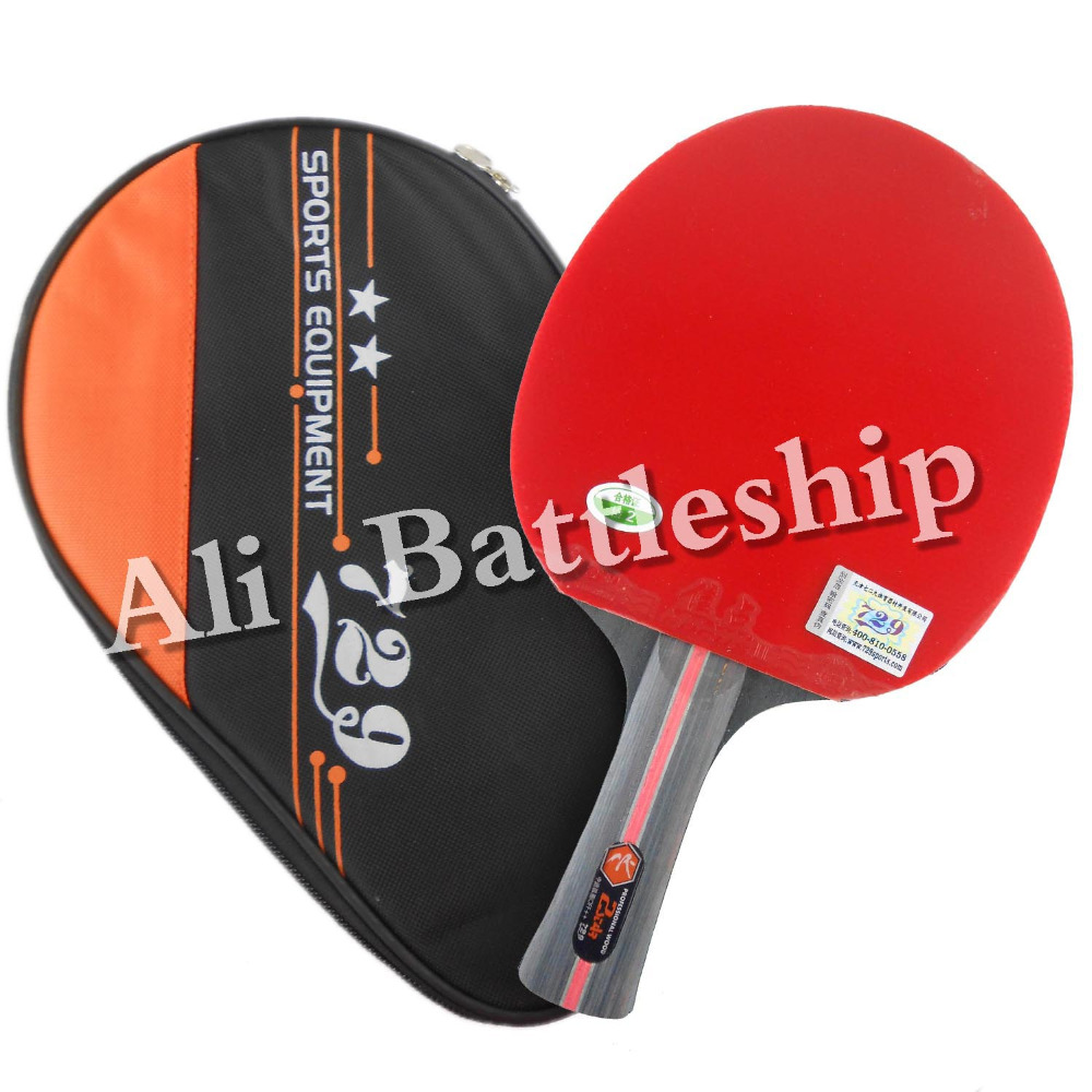 Original RITC 729 2 star (2 star, 2star) pips in table tennis / pingpong racket + a bat case Shakehand long handle FL