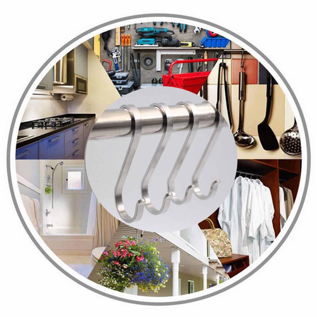 S-em forma de gancho gancho Plano quadro anel de Fivela de aço Inoxidável pote de Cozinha Roupas gancho